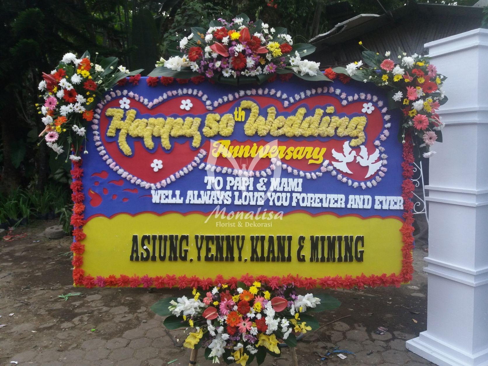 Baarakallaah Papan Bunga Ucapan Selamat Menikah